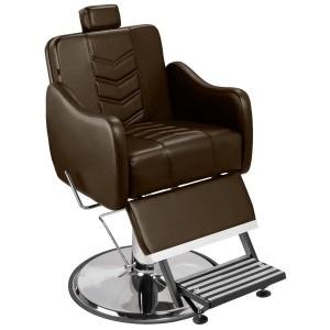 Cadeira de Barbeiro Veneza Marri pé taça cromado