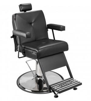 Cadeira de Barbeiro Milão Marri pé taça cromado