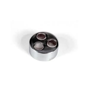Porta Batoque Cromado Para Micropigmentação Com 3 Suportes - Mag Estética