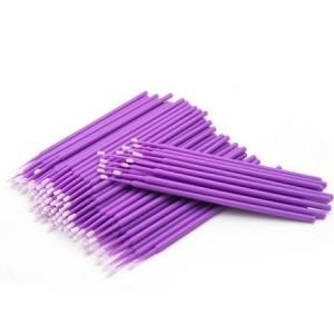 Micro Brush separador de cilios cores sortidas com 100 unidades