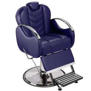 Cadeira de Barbeiro Alfa Marri pé taça cromado