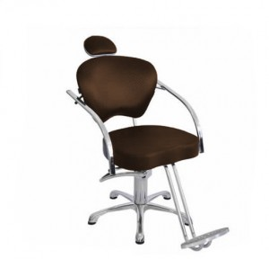 Cadeira Hidráulica Fixa Portinari Luxo Terra Santa-Café