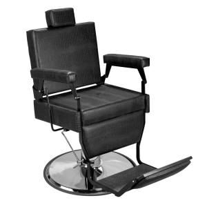 Cadeira de Barbeiro Barber Black Base Cromada