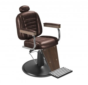 Cadeira de Barbeiro Reclinável Retro Base Preta