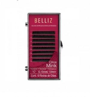 Cilios Para Alongamento Mink C 015 10mm Belliz