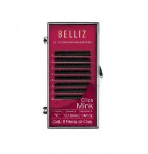 Cilios Para Alongamento Mink C 015 14mm Belliz