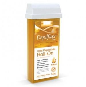 Cera Depilatória Roll-On Natural Depilflax