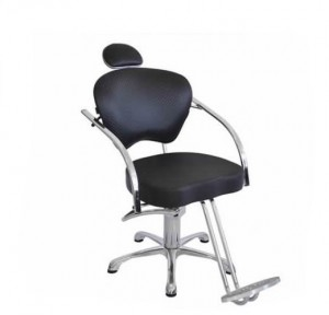 Cadeira Hidráulica Fixa Portinari Luxo Terra Santa-Preto