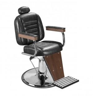 Cadeira de Barbeiro Reclinável Retro Base Cromada