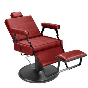 Cadeira de Barbeiro Barber Black Pé Preto
