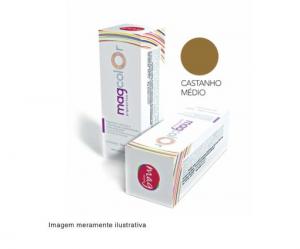 Pigmento para maquiagem definitiva Mag Color - Castanho Médio 15ml