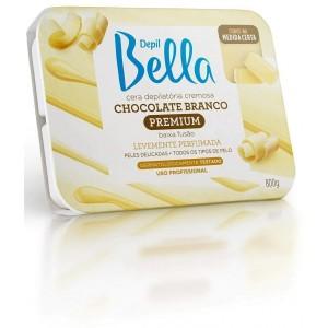 Cera Depilatória Quente Chocolante Branco Depil Bella-800g