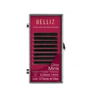 Cilios Para Alongamento Mink C 020 14mm  Belliz