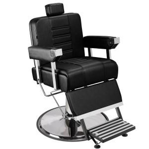Cadeira de Barbeiro Detroit Marri pé taça cromado