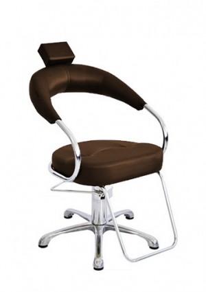 Cadeira Hidráulica Fixa Base Alumínio Futurama Terra Santa-Café