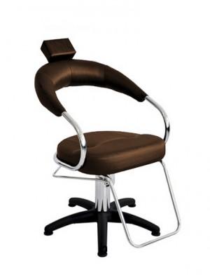 Cadeira Hidráulica Fixa Base Nylon Futurama Terra Santa-Café