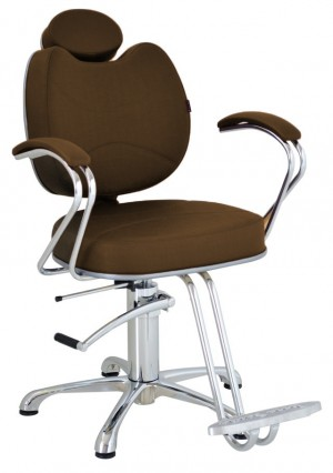 Cadeira Hidráulica Reclinável Splendore Terra Santa-Café