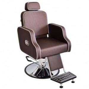 Cadeira de Barbeiro Greco Reclinável Base Taça Cromado Terra Santa