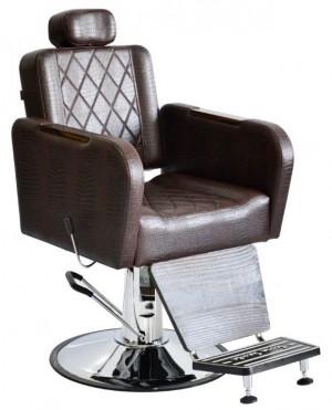 Cadeira de Barbeiro Caravaggio Reclinável Base Taça Cromado Terra Santa Ref.PO02.R