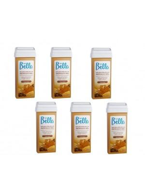 Kit com 6 cera Roll-On Própolis e Mel Depil Bella